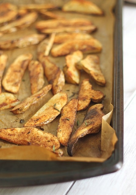 Rosemary baked fries