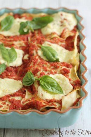Simple summer lasagna