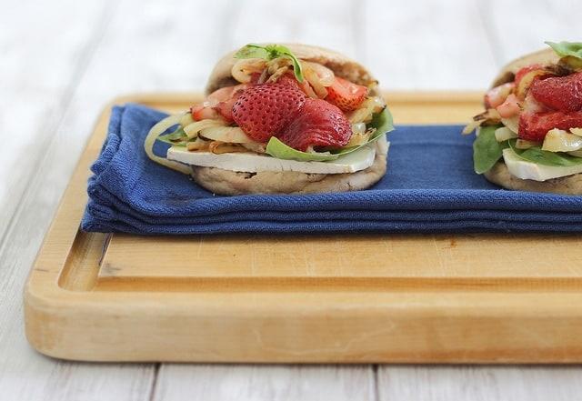 Strawberry brie panini