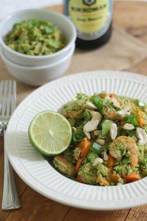 Broccoli fried rice with shrimp