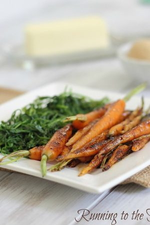 Brown sugar candied baby carrots