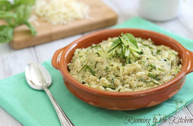 This cheesy zucchini quinoa is a great way to sneak in vegetables to a ...