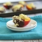 From bookmark to blog: Chocolate Dipped Stuffed Peaches