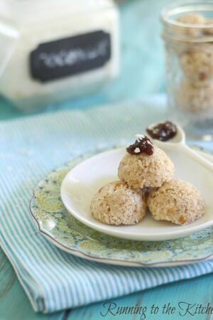 Coconut almond no bake macaroons