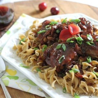 Honey plum soy chicken
