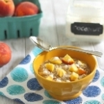 Peaches and Coconut Cream Oats