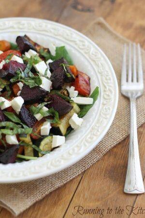 Simple summer roasted vegetable salad