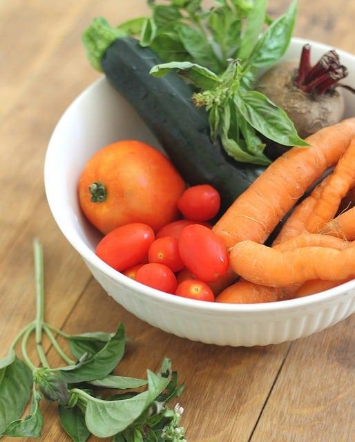 Summer roasted vegetable salad