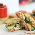 Grilled Zucchini Goat Cheese Pesto Panini