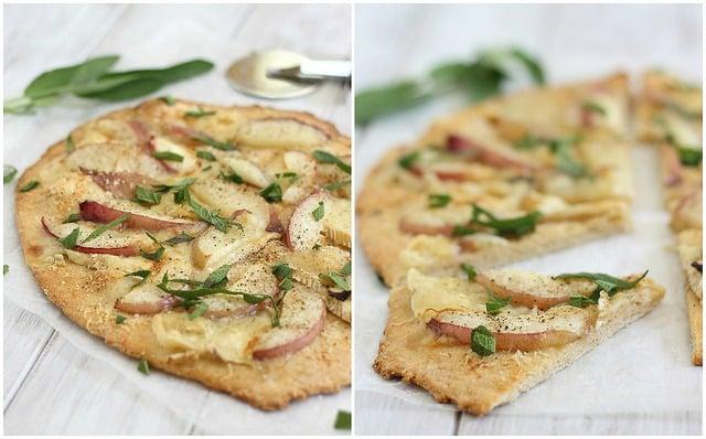 nectarine, sage & brie pizza