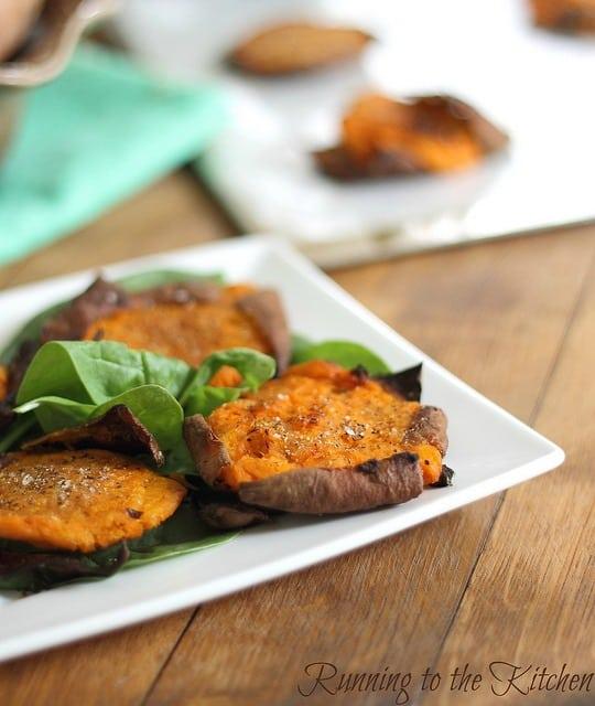 roasted smashed sweet potatoes