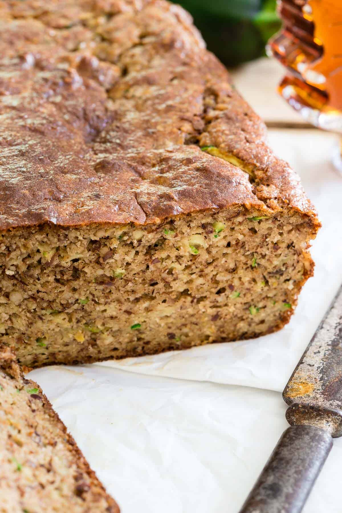 Paleo Almond Zucchini Bread is a grain free, gluten free, dairy free treat perfect for the end of the summer season.
