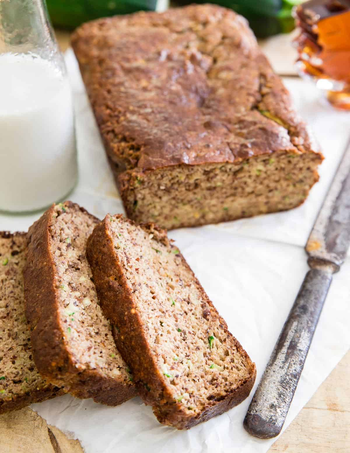 Use up zucchini in this paleo almond zucchini bread recipe perfect for late summer.