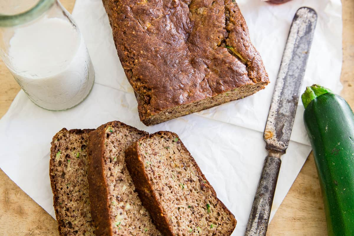 Try out this Paleo Almond Zucchini Bread, it's the perfect way to use up all that summer zucchini!