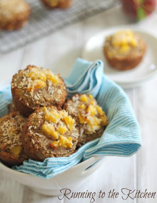 Peach coconut almond flour muffins