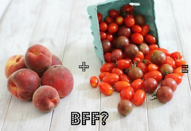Roasted tomato and peach sauce