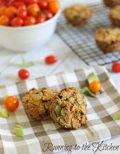 These paleo sun dried tomato leek muffins are made with almond and coconut flour and the perfect savory snack.
