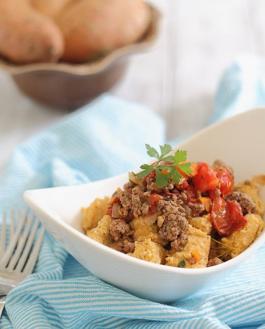 Sweet Potato Gnocchi with Bolognese
