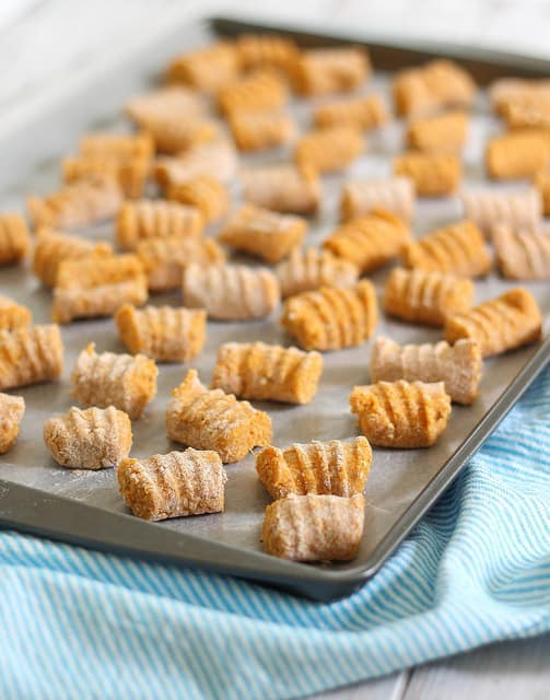Sweet potato gnocchi with bolognese sauce