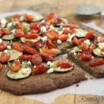 Roasted Tomato and Zucchini Paleo Pizza
