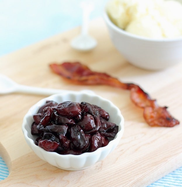 roasted cherry ice cream with bacon