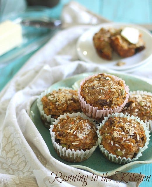 Carrot raisin everything muffins