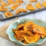 Crispy butternut squash chips