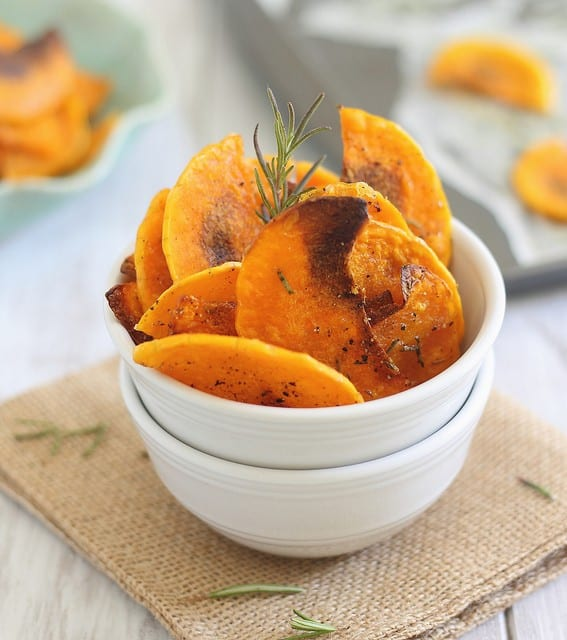 Butternut squash chips