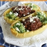 Chocolate Chili Stuffed Spaghetti Squash