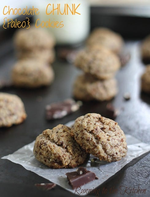 Paleo chocolate chip cookies that are gluten, grain and dairy free but taste just like the real thing! Just a small amount of easy ingredients and you can be eating these in minutes!