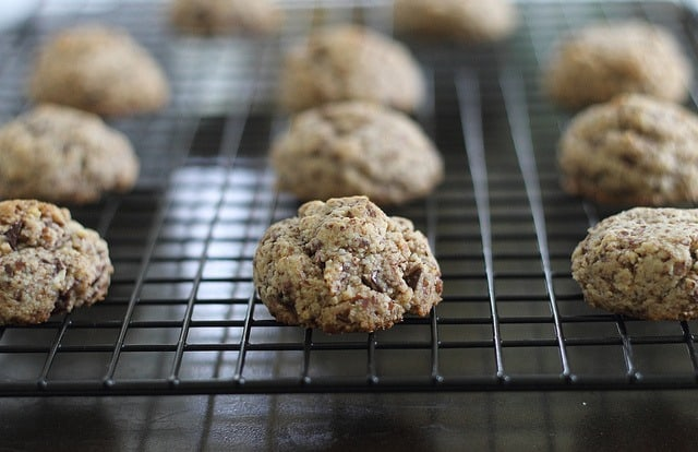 The BEST paleo chocolate chip cookies that come together with just a few simple ingredients.