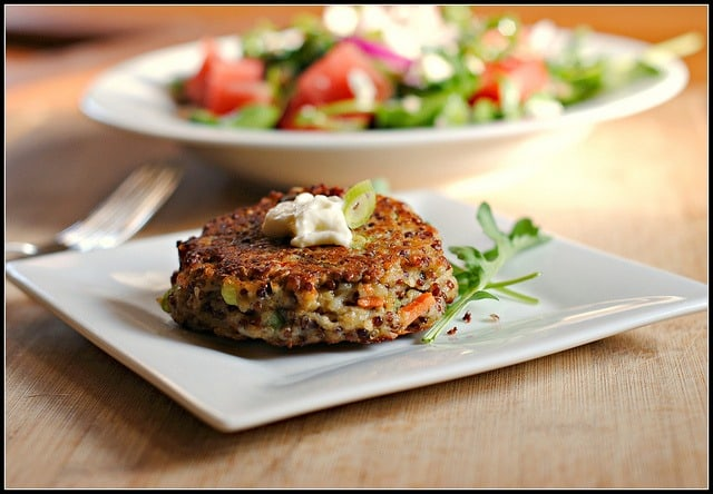 Goat Cheese Quinoa Patties