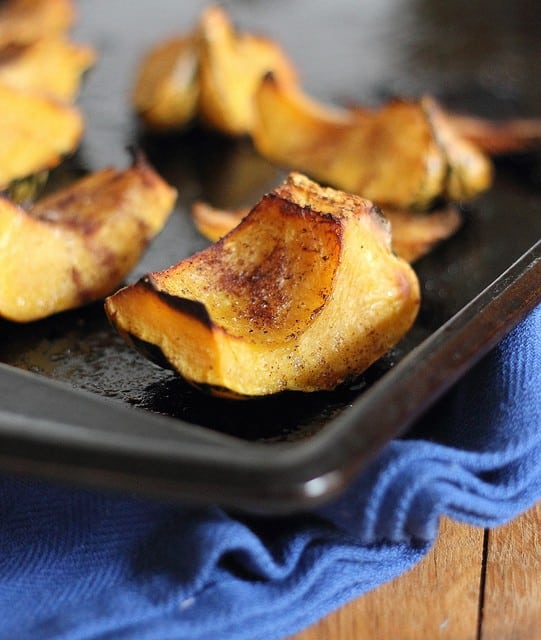 Maple roasted garlic squash puree