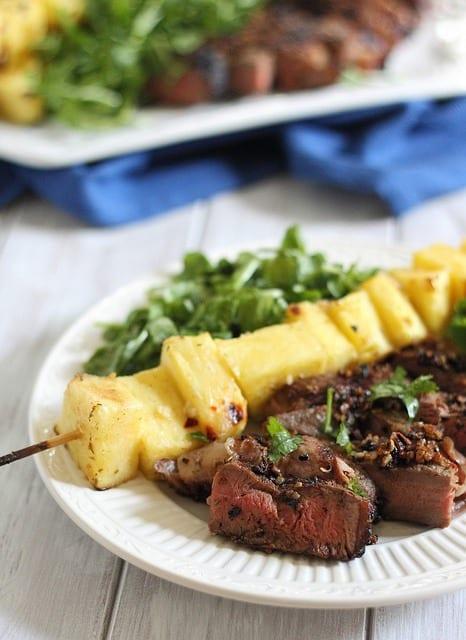 Pineapple Caribbean grilled steak