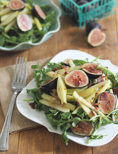 Warm apple and fig salad