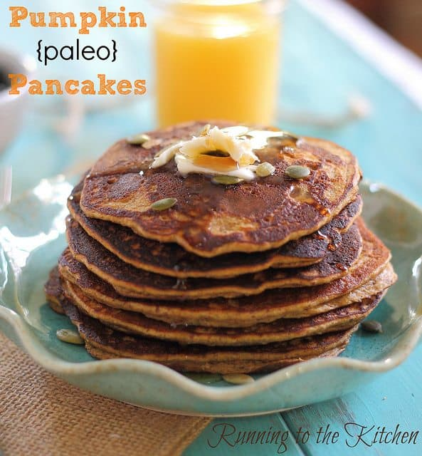 The search for a good grain-free, gluten-free fall pancake ends here. These pumpkin paleo pancakes are bursting with fall flavor and, unlike many other paleo pancake recipes, actually taste like a real pancake!