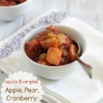 Apple Pear Cranberry Sauce