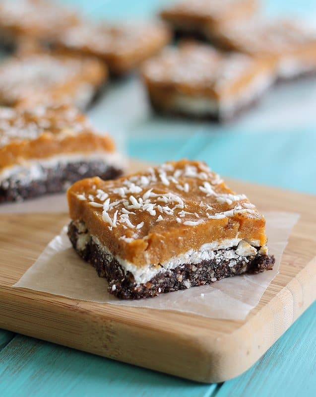 No bake pumpkin bars