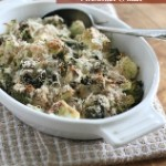 Roasted Broccoli Cauliflower Parmesan Gratin (158x195)