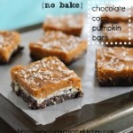 no bake chocolate coco pumpkin bars (165x170)