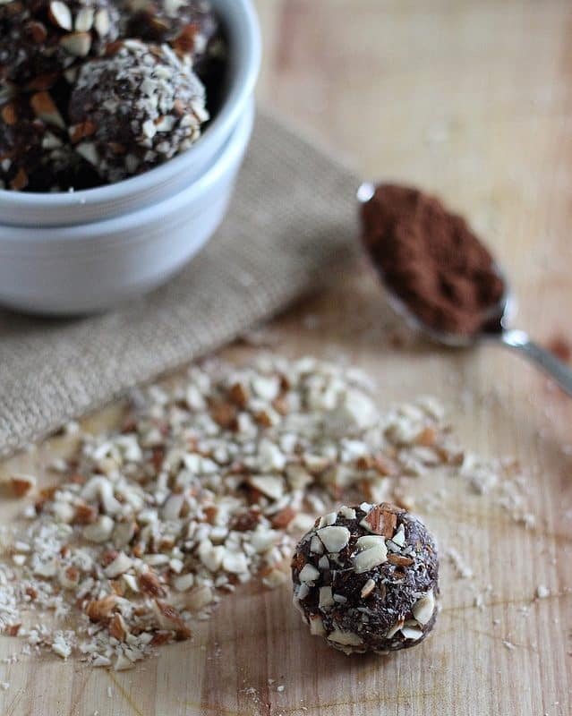 Indulgent and decadent, the chocolate almond truffles are actually healthy!