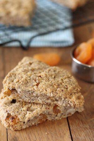 Coconut apricot scones