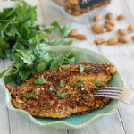 Dijon almond crusted tilapia
