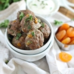 Greek meatballs with dried apricots