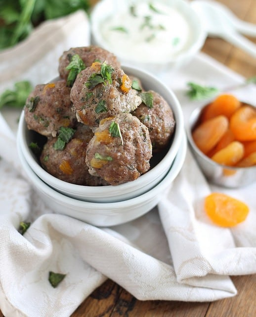 Greek meatballs with mint and dried apricots