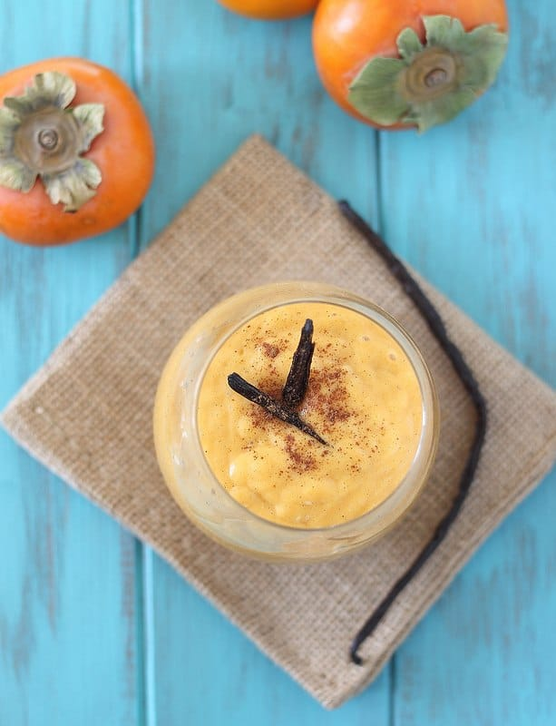 Persimmon vanilla smoothie