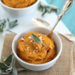 Creamy coconut garlic butternut squash puree
