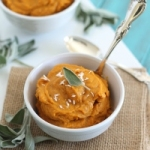 butternut squash puree with garlic and coconut