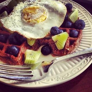 paleo chocolate waffle