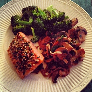 pecan parsley crusted salmon